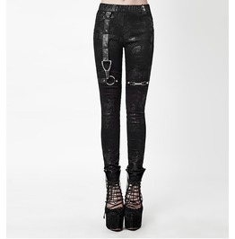 Black Gray Gothic Steampunk Distraction Leggings Punk Pants $9 To Ship