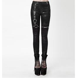 Black Gray Gothic Steampunk Distraction Leggings Punk Pants $9 To Ship