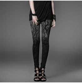 Black Gray Haunted Forest Gothic Leggings Tree Branch Leggings Free To Ship