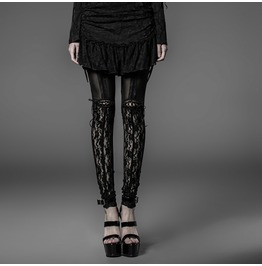 Black Lace Garter Leggings Gothic Laces Visual Kei Punk Leggings $9 To Ship