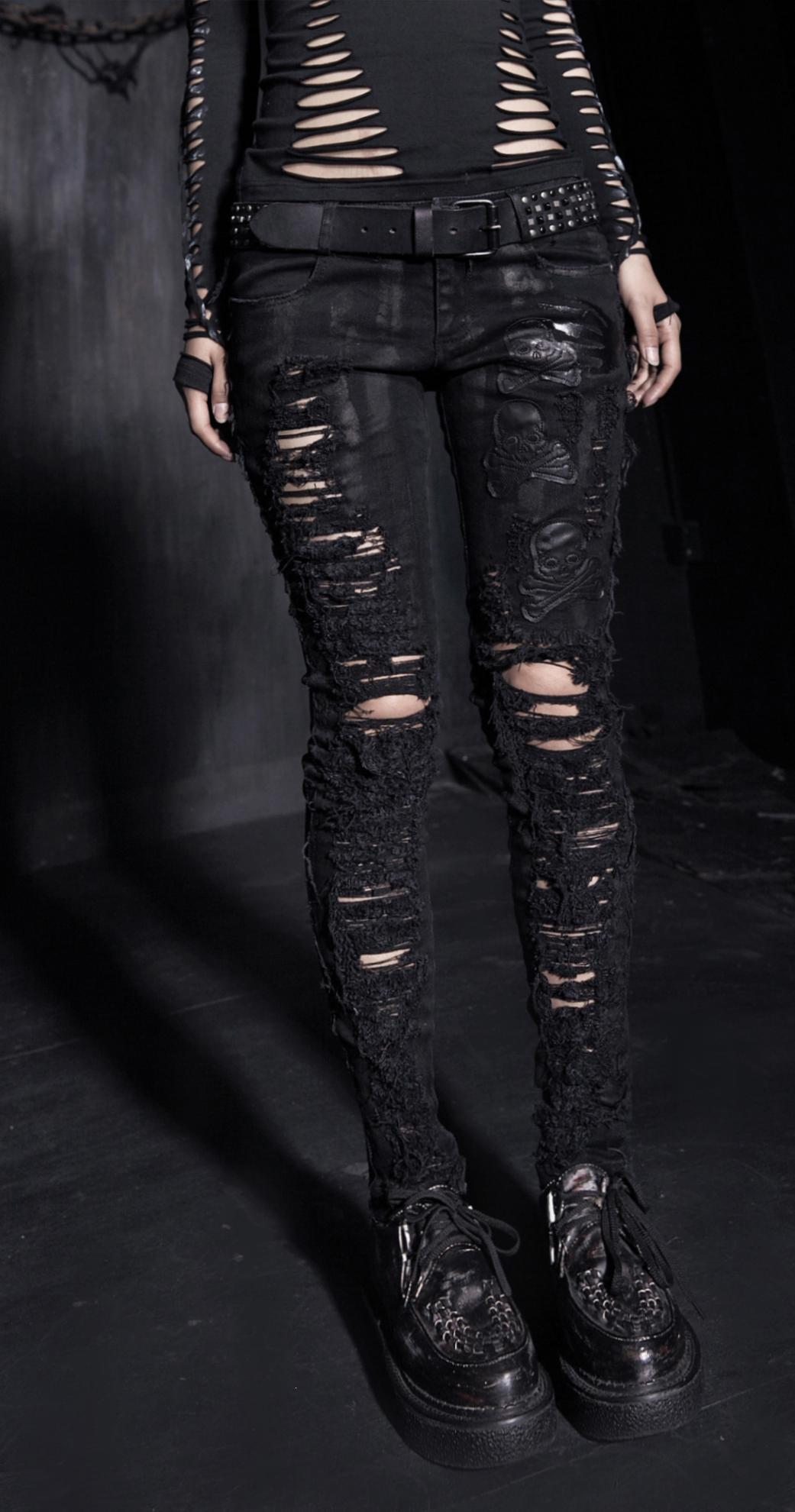 rebelsmarket_ladies_black_ripped_gothic_skull_print_skinny_jeans_industrial_trousers_pants_and_jeans_5.jpg