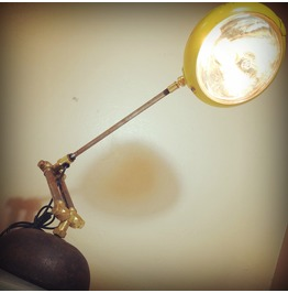 Found Object Industrial Light Sculpture Articulating Task Lamp