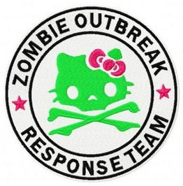 Embroidered Hello Kitty Zombie Outbreak Response Team Iron/Sew On Patch