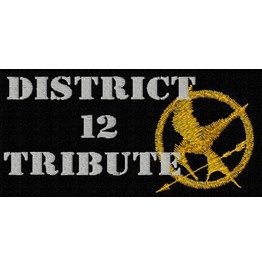 Embroidered Hunger Games Patch District 12 Tribute Iron On / Sew On