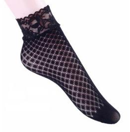 Black Floral Lace Socks P7