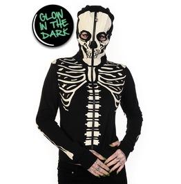Banned Apparel Glow In The Dark Skeleton Hand Hoodie