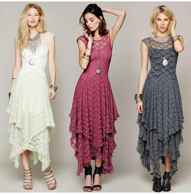 Layered Boho Lace Maxi Dresses