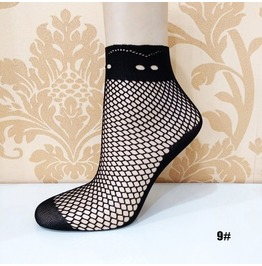 Black Floral Lace Socks L9
