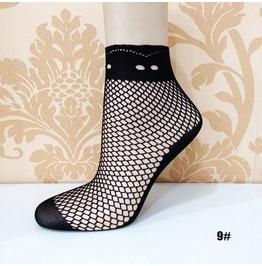 Black Floral Lace Socks L9