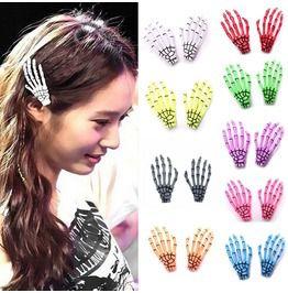 Hair Clip Skeleton Hand Bone Claw 1 Pair