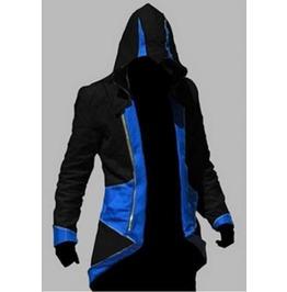 Assassin's Creed Blue/Black Mens Hooded Jacket M/L/Xl/2 Xl/3 Xl