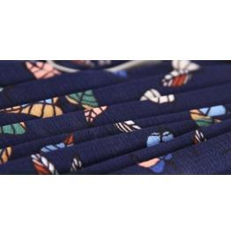 Summer Waist Chiffon Skirts National Wind Long Section Large Pleated Skirt
