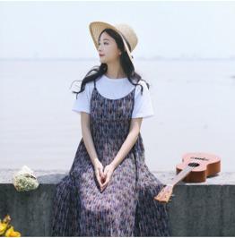 New Harness Dress Skirt Small Fresh Literary Ladies Floral Dress