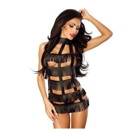 Sexy Dress,Sexy Fringe Dress ,Black Babydoll