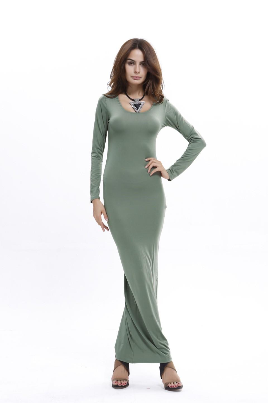 Casual Long Sleeves Maxi Dress 117856