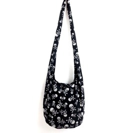 Cool Black Pirate Skull And Crossbones Design Bag Cotton Lightweight Fabric