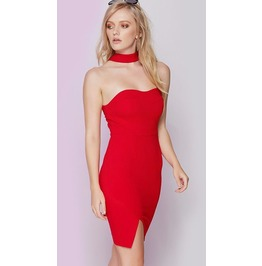 Sexy Off Shoulder Halter Neck Bodycon Dress