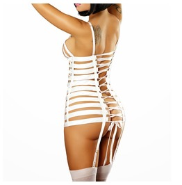 Sexy Costume,Sexy White Dress ,White Babydoll