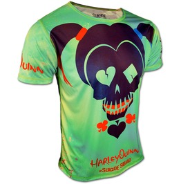 Official Suicide Squad T Shirt Harley Quinn Harlequin Tshirt Top Movie