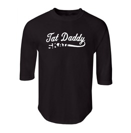 "Men's ""Tat Daddy Skate"" 100% Cotton Jersey Raglan"