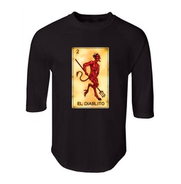 "Men's ""El Diablito"" 100% Cotton Jersey Raglan"