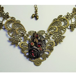 Gothic Necklace Steampunk Necklace Victorian Necklace