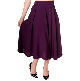 Banned Apparel Gracie Skirt Purple And Black