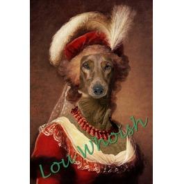 Fuzzy Wiener Dog Marie Antoinette
