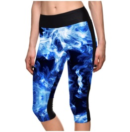 New Digital Printing Sport 7 Minutes Yoga Pants Slim Leggings