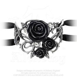 Bacchanal Black Roses Bracelet For Dark Love By Alchemy Gothic