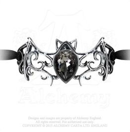 df6857ca99f Viennese Nights European Winged Crystal Bat Bracelet By Alchemy Gothic