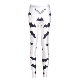 Black And White Digital Printing Bat Casual Sports Pants Leggings