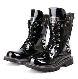 Men's Punk Skull Rivets Round Head Thick Soled Martin Boots