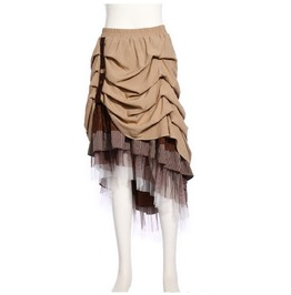 Gothic Multilayer High/Low Maxi Skirt