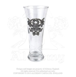 Aqua Vitae Double Headed Dragon Beer Glass By Alchemy Gothic