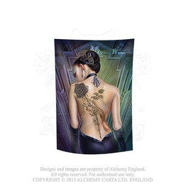 Rose Des Folies Tattoo Lady Of The Alchemist' Heart Flag By Alchemy Gothic