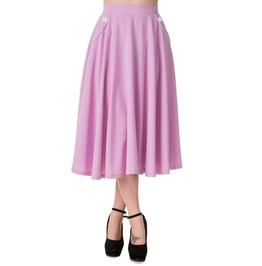 Banned Apparel Gracie Skirt Lavender, Navy, And Burgundy