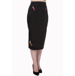 Banned Apparel New Romantics Pencil Skirt