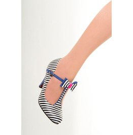Banned Apparel Marilyn Strappy Shoes Nautical, Mint, And Navy