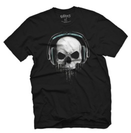 Skull Beats Mens T Shirt