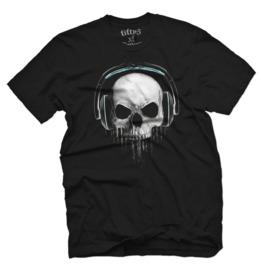 Skull Beats Mens T Shirt