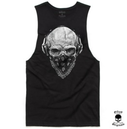Skull Tunes Mens Muscle Tee