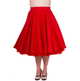 Banned Apparel Miracles Skirt Plus Red, Black, And Navy