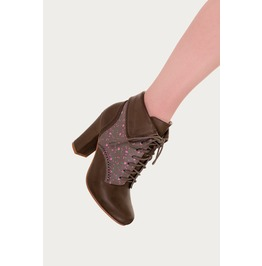 Banned Apparel Lauren Collared Style Boots Taupe And Black
