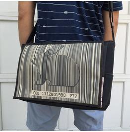 Student, Bar Code Print, Benga Rabbit Messenger Bag