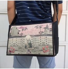 Student, Silencio Print, Benga Rabbit Messenger Bag