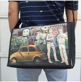Student, Hitch Print, Benga Rabbit Messenger Bag