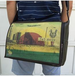 Student, Tel Aviv Print, Benga Rabbit Messenger Bag