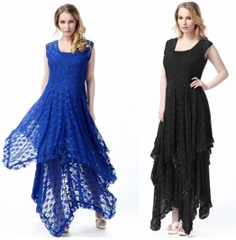 Women Lace Long Evening Dress Plus Size Cocktail Party Evening Maxi Dress