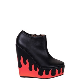 Iron Fist Shoes Fire Sign Wedge